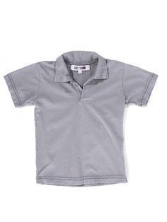 Grey V-neck Polo Shirt by Recess - ShopKitson.com