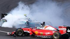 Sebastian Vettel receives a 3-place Japan grid penalty for causing a crash with Nico Rosberg in Sepang