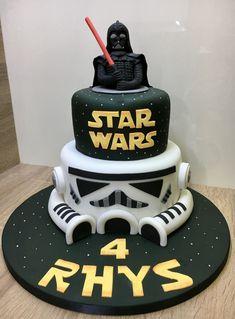 Star Wars Darth Vader & Stormtrooper Birthday Cake - Star Wars Vader - Ideas of Star Wars Vader - Star Wars Darth Vader & Stormtrooper Birthday Cake Star Wars Birthday Cake, Themed Birthday Cakes, Star Wars Party, Birthday Cake Toppers, Birthday Cupcakes, Bolo Star Wars, Pastel Mickey, Star Wars Cake Toppers, Star Wars Cupcakes