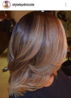 32 Layered Bob Hairstyles : Add These Hot Layers to Your Haircut Now - Style My Hairs Love Hair, Great Hair, Gorgeous Hair, Curly Hair Styles, Natural Hair Styles, Dyed Natural Hair, Corte Y Color, Beauty And Fashion, Hair Laid