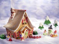 Christmas gingerbread house snowman