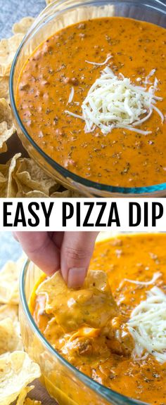 Easy Pizza Dip {A Fun Twist on Traditional Pizza Flavors} pizza/dip/appetizers This Easy Pizza Dip is the perfect appetizer for any gathering in your future! In under 20 minutes you have a creamy, pizza like tasty treat that everyone enjoys! via @amiller1119