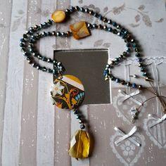 Collana DADA #dada_by_daniela_daprat #lalberoalessandria #collanahandmade #collana #necklace #handmadejewelry #handmade #fattoamano #bijoux #legno #decoupage  #alessandria #solocosebelle #pezzounico