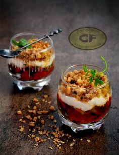 Eggplant and zucchini crumble with goats cheese cream - Crumble au fromage de chevre