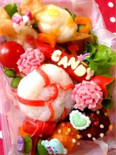 Twitter from @bisco_decorate CANDY PARTY弁当 #bento #obentoart #obento #お弁当 #ラブホリ