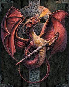 Anne Stokes Dragon | Anne Stokes - celtic dragon