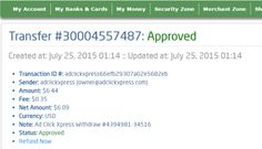 Ad Click Xpress - ACX paying all day and here is my payment Nr.12.!!! NO SCAM HERE!!! THANKS ACX!!