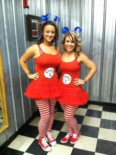 Best costume idea ever , Thing 1 & Thing 2