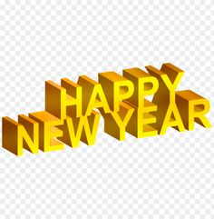 Happy New Year Download, Happy New Year Pictures, Photo L, Image Collection, Clip Art, 3d, Yellow, Free, Projects To Try