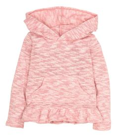 Hooded jumper with a flounce | Product Detail | H&M