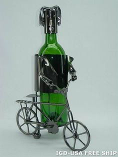 High Quality Genunie Hand Made Caddy Bicyclist Metal Wine Bottle Holder Free Ship. ZB710-ITE by ThreeStar. $46.95. Manufactured At The Highest Quality Available.. Design Was Stylish And Innovative Satisfaction Ensured.. One Of The Best And Gorgeous Imports Available At The Imported Gift Depot.. High Quality Genunie Hand Made Caddy Bicyclist Metal Wine Bottle Holder Free Ship.. It Makes A Great Gift For Any Occassion and Someone Special.. High Quality Genunie Hand ...