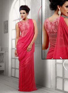 saree style dresses - Google Search
