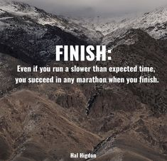 Finish: Even if you run a slower than expected time, you succeed in any marathon when you finish Marathon Motivation, Fitness Motivation, Running Motivation, Fitness Quotes, Marathon Quotes, Exercise Motivation, Half Marathon Training, Marathon Running, Ny Marathon