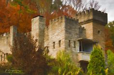 Art Photograph - Fall At The Castle by Litchfield  Artworks