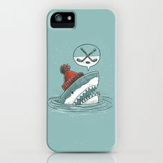 Hockey Shark iPhone & iPod Case