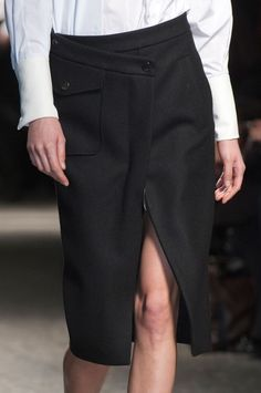 Black Wrap Skirt - deconstructed tailoring, fashion details // Ports 1961