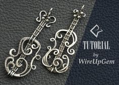 Wire wrap tutorial Wire wrapping violin pendant tutorial