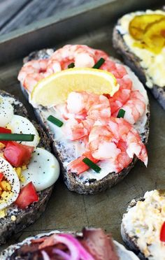 Scandinavian-Style Open-Faced Sandwiches – Cheap Recipe Blog Red Onion Recipes, Tuna And Egg, Open Faced Sandwich, Ham Salad, Scandinavian Food, Sweet Pickles, Melting Chocolate Chips, Turkey Sandwiches, Delicious Sandwiches