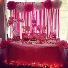 Breast Cancer Awareness Dessert Table