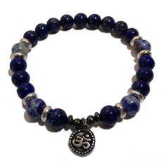 Lapis and Denim Lapis Positive Energy Bracelet | Edgy Soul