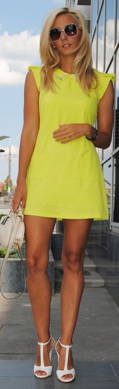 Neon Dress by Let's Talk About Fashion !