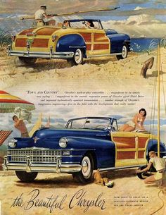 Chrysler Town And Country 1947 - www.MadMenArt.com | Vintage Cars Advertisement…