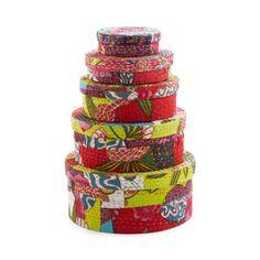 Assam Hat Boxes - Set of 5