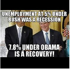 Anyone with a brain knows 7.8% is just another lie to the American people. Obamas propaganda is NOT working, the man has NO CREDIBILITY...VOTE ROMNEY~RYAN NOV 6th 2012