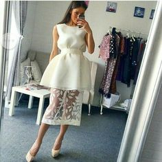 Nice white dresses - Nice white dress design with lace,homecoming – Nice white dresses Trendy Dresses, Cute Dresses, Beautiful Dresses, Short Dresses, Dresses Dresses, Lace Homecoming Dresses, Evening Dresses, Summer Dresses, Quinceanera Dresses