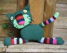 Crazy Cat  crochet /knitting pattern by CAROcreated on Etsy, €4.00