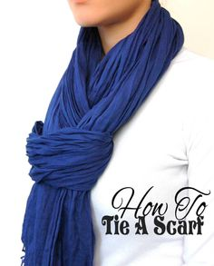 Cool way to tie a scarf with directions...