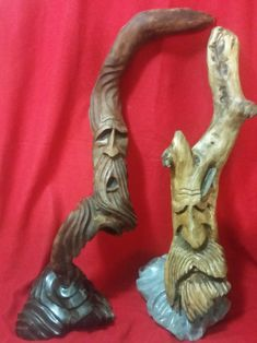 Mr ren and his brother,  Driftwood set on soapstone