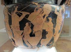 Gruppo di polignoto o pittore di peleo, cratere con processione per dioniso-sabazio e rea-cibele, 420 ac.