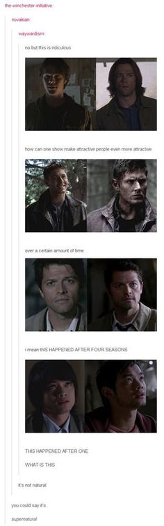 *giggling* hehehheehehehehehehehheehehehehhehehe.....SUPERNATURAL.......hehhehehehehehhehhhehehhehehehehehe *continues giggling*