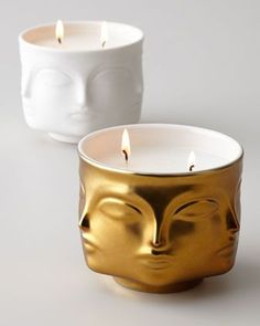 Shop Gold Muse Candle from Jonathan Adler at Horchow, where you'll find new lower shipping on hundreds of home furnishings and gifts. Jonathan Adler, Bougie Candle, Candle Jars, Candle Holders, Home Scents, Home Fragrances, Candle Making, Scented Candles, Homemade Candles