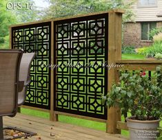 Backyard Landscaping - A super awesome collection of backyard pins. For more incredible ideas jump to the link to read the summary number 1642346175 now. Privacy Fence Designs, Outdoor Screens, Privacy Screen Outdoor, Privacy Fences, Deck Privacy Screens, Fencing, Decks With Privacy Walls, Metal Garden Screens, Porch Privacy