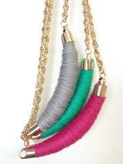 Sewers Bow Necklace- Teal - The Pink Studs Online Jewelry Boutique