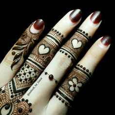 Beautiful finger #mehendi design