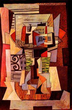 Pablo Picasso, 1920 Fenêtre ouverte sur la rue de Penthièvre on ArtStack #pablo-picasso #art