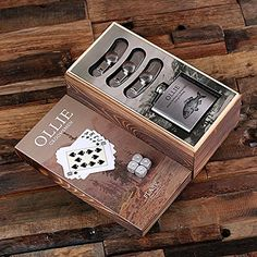 Flasks with Poker Cards Dice Gambling Gift Sets_Hunter_Small * This is an Amazon Affiliate link. Details can be found by clicking on the image.