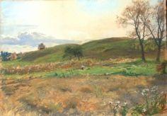 Walter Launt Palmer (American 1854-1932) - Oatfield Near Van Wies Point, October 17, 1884.