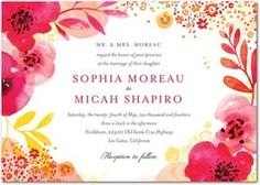 Lively Bouquet wedding invitation