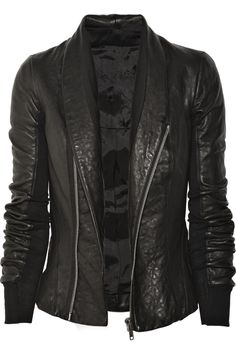 RICK OWENS Fitted leather jacket #leather #jacket #style