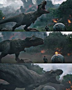 One of the BEST scenes in the franchise! Jurassic Park 1993, Jurassic Park World, Jurassic World Dinosaurs, Jurassic World Fallen Kingdom, Falling Kingdoms, Tyrannosaurus, Prehistoric, Characters, Tv