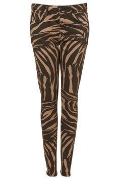 MOTO Zebra Skinny Jeans - StyleSays