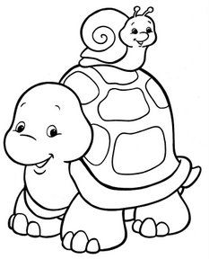 mommy turtle coloring pages - photo#42