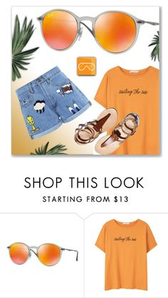 """""""SMARTBUYGLASSES.co.uk"""" by monmondefou ❤ liked on Polyvore featuring Ray-Ban, MANGO, Paul & Joe Sister and smartbuyglasses"""