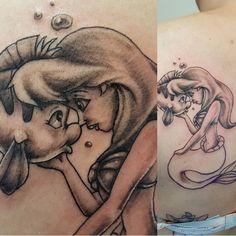 Disney Little mermaid tattoo #TattooIdeasDisney