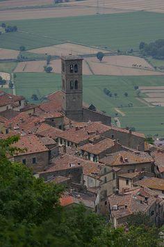 View from the top of the Via Crucis, Cortona, Tuscany, Italy