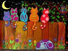 Moonlighting Together Art Print by Nick Gustafson